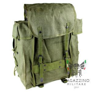 Zaino tattico originale Esercito Italiano canapa NUOVO