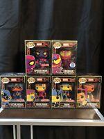 Funko Pop! Marvel: Marvel Blacklight Pop Lot (See Photo Of Spider-Man)
