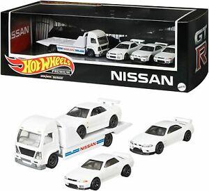 R32 BCNR33 R34 Nissan set 1:64 Rig Ramp truck Skyline GTR  MATTEL HOT GMH39-956F