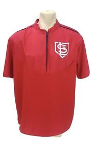 St Louis Cardinals Pullover Size XL Half Zip Red Baseball MLB Pullover Jacket