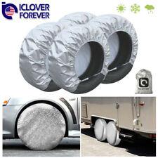 Waterproof Tire Covers Set Of 4 Wheel&Tyre Rv Trailer Camper Sun Protector 28'