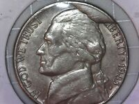 1983-P 5C MAJOR CUD ERROR Jefferson Nickel With Reverse Die Break