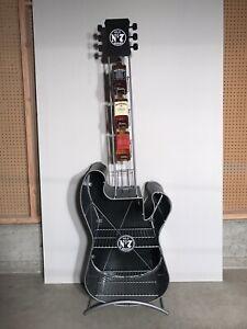 Jack Daniels Metal Guitar Bottle Display Rack  PICK UP ONLY*NO LIQUOR INCLUDED*