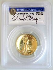 2009 Gold $20 Ultra High Relief Double Eagle PCGS MS70PL - Edmond C. Moy signed!