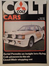 MITSUBISHI COLT CARS orig 1981 UK Mkt Publicity Brochure - Lancer 2000 Turbo etc