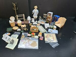 dolls house accessories job lot 50+ household items 12th Y1