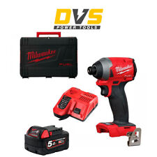 Milwaukee M18FID2-0 18v M18 FUEL GEN 3 Impact Driver 5Ah Battery Charger Case