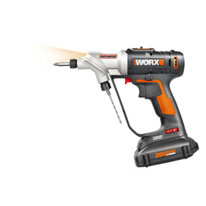 Worx Cordless Drill Driver Power Share Rotating Dual Chuck Li-Ion 20Volt 1/4 in.