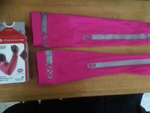 "McDavid reflective compression arm sleeves pink used medium 9.5-11"""