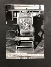 Vintage BW Real Photo #BL: Mompessons Chair, St Lawrence's Church: Eyam 5 of 7