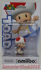 Toad amiibo personaggio-Super Mario COLLECTION NUOVO OVP NINTENDO WIIU 3ds