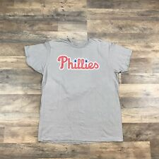 MLB Philadelphia Phillies T-Shirt Mens Size XL Short Sleeve Grey Spell Our Logo