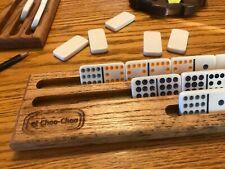 Single Mexican Train Domino Rack Solid Oak - Customized
