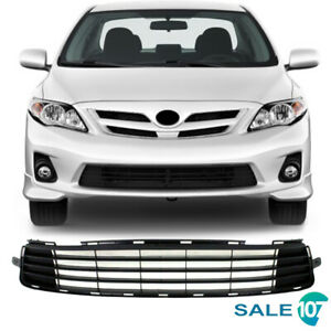 For 2011 2012 2013 Toyota Corolla Front Lower Bumper Grill Matte Black Grille