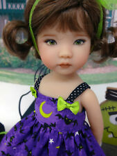 "Midnight Bats - dress, tights & shoes for 13"" Effner Little Darlings doll BJD"