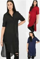 Polyester Short Sleeve Dresses for Women with Blouson