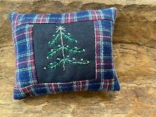 New listing Primitive Stitchery Hand Stitched Christmas Ornie Farmhouse Evergreen Tree