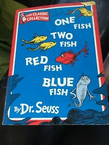 One Fish Two Fish Red Fish Blue Fish by Dr. Seuss Paperback 1997 Free Postage!!
