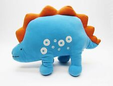 "Blue & Orange Stegosaurus Dinosaur Plush Lovey Roar Sound 16"" Kohls Jumping Bean"
