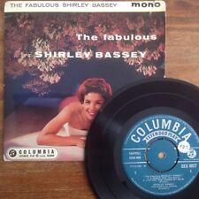 The Fabulous Shirley Bassey (Columbia SEG 8027) 1959 1st UK Press 4 Track EP