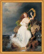 The Harp of Erin Thomas Buchanan Read Harfe Frauen Küste Meer Fels B A2 03239