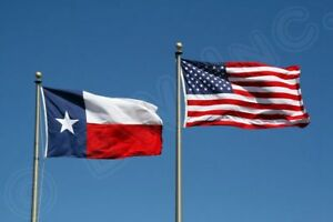 3' X 5' 3x5 USA Flag American Flag Texas State Flag WHOLESALE LOT USA Seller Set