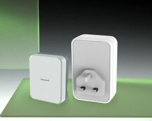 Honeywell 150m Wireless Plug-in Doorbell kit, Wired/Wirefree Extender, DC313SCVB