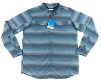 Columbia Silver Ridge Plaid Shirt Mens Big & Tall Large Long Sleeve Nylon Vented