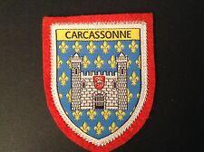 CARCASSONE  souvenir patch ecusson woven badge SCUTELLIPHILY