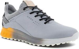 ECCO Men's S-Three Gore-tex Golf Shoe  5-5.5, Silver Grey