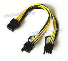 1x PCI-e 8pin to Dual 8Pin/ PCIe 8pin-2x(6+2pin) Graphics Video Card Power Cable
