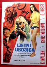 SUMMERTIME KILLER 1972 CHRISTOPHER MITCUM OLIVIA HUSSEY RARE EXYU MOVIE POSTER