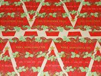 "VTG CHRISTMAS WRAPPING PAPER GIFT WRAP 1960 O CHRISTMAS TREE MUSIC NOS 20"" X 30"""
