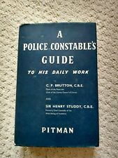 More details for rare 1961 police constable's guide to his daily work  pitman by studdy & brutton