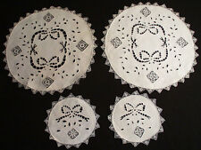 ANTIQUE MIXED ITALIAN HANDWORK COCKTAIL COASTERS AND ROUND PLACEMATS HAND MADE