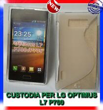 Pellicola+Custodia cover case WAVE CLEAR TRASPARENTE per LG Optimus L7 P700 (H9)