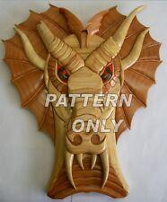 NEW  Intarsia Wood Pattern, DRAGON BROKENHORN, Original