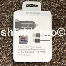 Genuine Samsung Mini Fast USB Car Charger Type-C Cable Galaxy S8 S9 S10 Note 10+
