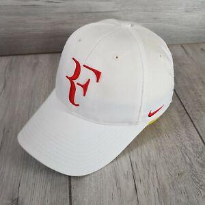 Roger Federer RF Nike Dri Fit Classic Tennis Cap Hat White 327906 Rare BNWOT