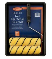 "Tiger 9"" Paint Roller Set Complete Decorating Kit With 2 Sleeves Tray Roller"