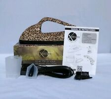 Xsteam Luxury Steam Iron Travel Portible Leopard Print Open Box Tested Works