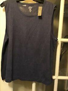 New J.Crew purple linen sleevless t shirt top xl