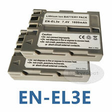2pcs EN-EL3E ENEL3e Battery for Nikon D70 D80 D90 D100 D200 D300 D300s D700