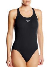 Abbigliamento neri in poliestere con girocollo per il mare e la piscina da donna