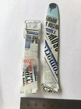 001 Swatch 20mm Watch Strap Plastic Bond 007 Tomorrow Never Dies