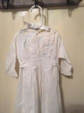 Vintage Pin tuck & Broidery Anglais Christening Gown (617)