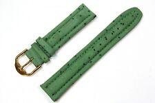 Jacques Lemans Ersatzband Uhrenarmband Lederband Grün 20 mm Stegbreite 25500G