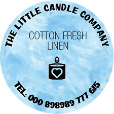24 PERSONALISED CANDLE STICKERS, ANY TEXT ANY COLOUR ADVERTISE YOUR BUSINESS
