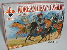REDBOX 72121 Korean Heavy Cavalry Set 1 16th-17th C. 1/72 scale plastic figures.