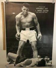 HUGE POSTER Muhammad Alli Black and White Iconic Image Vs. Sonny Liston May 25